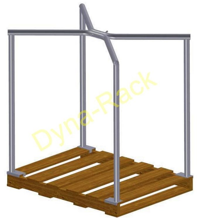 warehouse, pallet frame, stacking, rack