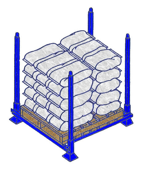 Portable stack racks