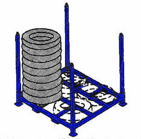 Tire stack racks