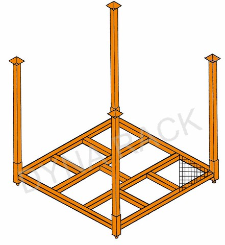60x60 wire stack rack